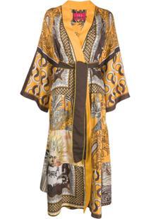 F.R.S For Restless Sleepers Vestido Robe Com Amarração - Laranja