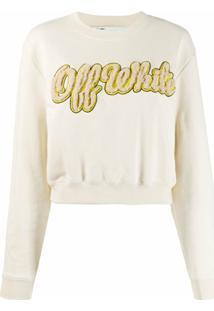 Off-White Blusa De Moletom Com Logo - Neutro