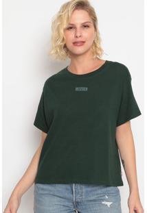 """Camiseta Com Bordado """"Levi'S®""""- Verde Escurolevis"""