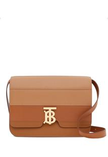 Burberry Medium Panelled Tb Shoulder Bag - Marrom