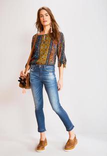 Calça Jeans Skinny Cintura Alta Jeans
