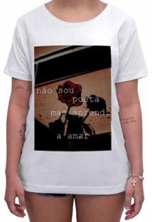 Camiseta Impermanence Estampada Amor Feminina - Feminino-Branco