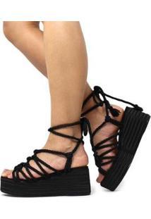 Sandália Damannu Shoes Brooke Feminina - Feminino-Preto