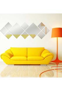 Espelho Love Decor Decorativo Apla ÚNico - Prata - Dafiti