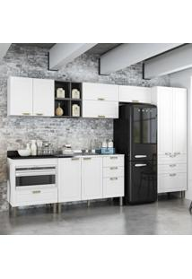Cozinha Completa 9 Peã§As Americana Multimã³Veis 5659Mf Branco/Grafite - Branco/Incolor - Dafiti