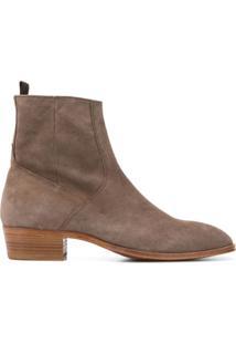 Represent Ankle Boot Com Salto Bloco - Marrom
