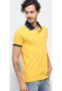 Camisa Polo Bulldog Fish Friso Masculina - Masculino-Amarelo