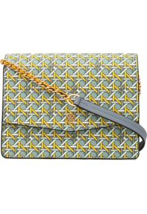 Tory Burch Robinson Geometric-Print Shoulder Bag - Colorido
