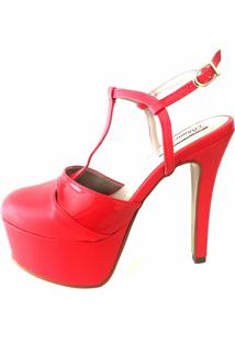 Sandália Blume Calçados Calçados Flame Vermelho