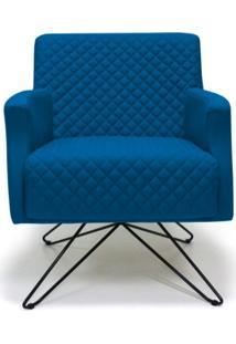 Poltrona Domi Decorativa Diva Base Orby Fixa B170 Azul
