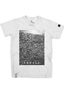 Camiseta Stoned Favela Masculina - Masculino-Branco