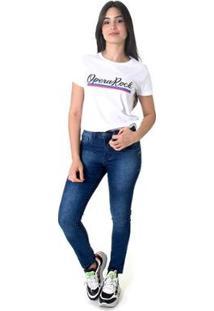 Calça Jeans Skinny Opera Rock Day Feminina - Feminino-Azul
