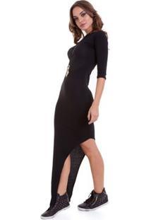 Vestido Manola Mullet - Feminino-Preto