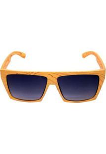 Óculos De Sol Khatto Square Masculino - Masculino-Bege