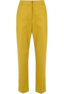 Egrey Calça Cropped Transpassada - Amarelo