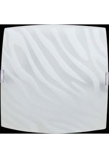 Plafon Sobrepor Quadrado Pequeno 1 Lâmpada E27 Zebra Branco