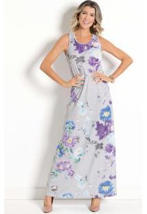 8b2eba90c R$ 44,99. Posthaus Vestido Longo Floral Com Elástico Na Cintura
