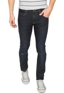 Calça Jeans Rock&Soda Skinny Rasgo Azul