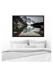 Quadro Love Decor Com Moldura Alpes Suíços Preto Médio