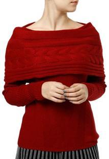 Blusa De Tricot Feminina Vermelho