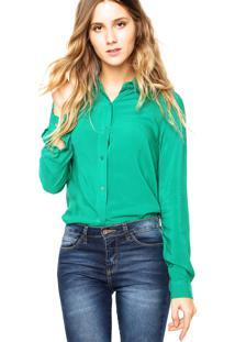 Camisa Manga Longa Ellus Fluid Verde