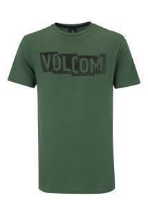 Camiseta Volcom Silk Edge - Masculina - Verde Escuro