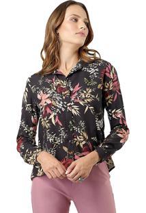 Camisa Mx Fashion Estampada Heloísa Preta