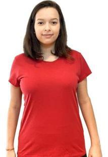 Camiseta Baby Look Teese Feminina - Feminino-Vermelho Escuro