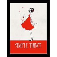 f98dcff93 Quadro Decorativo 24X33 Simple Things Art E Cia - Preto