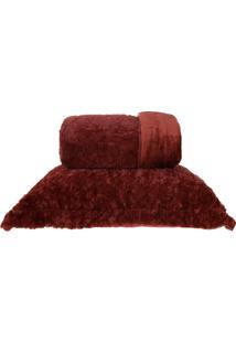 Cobertor Queen Slim Peles Dupla Face Com Porta Travesseiro - Ferarra