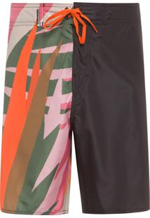 Bermuda Masculina Surf Graphique Colors - Preto