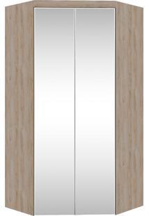 Guarda-Roupa Canto Closet Virtual 2 Portas Com Espelho E Gavetas Cedro Robel