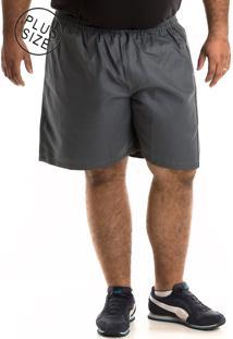 Bermuda Konciny Sarja Plus Size Cinza