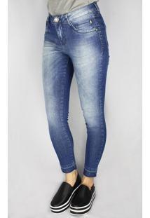 Calça Jeans Feminina Instinto Cigarrete Azul - 40