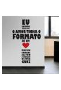 Adesivo De Parede Frases Amor Em Cruz - G 76X50Cm