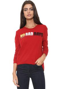 Camiseta Calvin Klein Jeans No Bad Days Vermelha