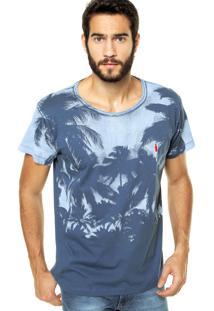 Camiseta Coca-Cola Jeans Reta Azul