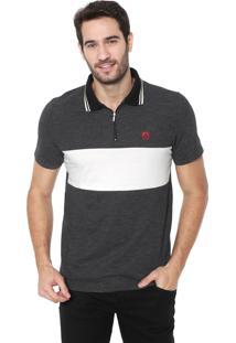 Camisa Polo Mr Kitsch Reta Recorte Preta