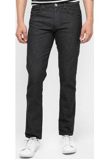 Calça Jeans Preston Tradicional Black - Masculino-Jeans