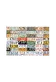 Painel Adesivo De Parede - Placas De Carro - 072Pn-M