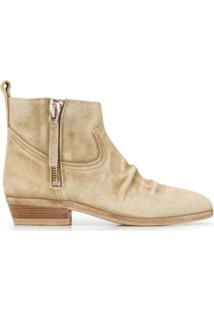Golden Goose Ankle Boot Bico Fino - Neutro