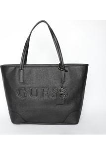 Bolsa Guessâ® - Preta- 28X32X16Cm- Guessguess