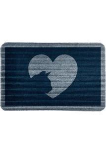 Capacho Carpet Love Cat Azul Único Love Decor