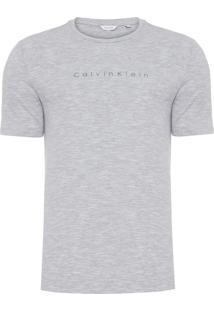 Camiseta Masculina Slim - Cinza