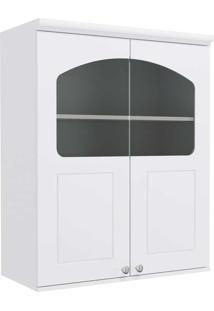 Armário Aéreo Cozinha 80 Cm Provenzza 2 Portas Com Vidro G626 Branco - Kappesberg