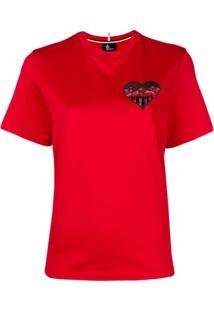 Moncler Grenoble Camiseta Mangas Curtas - Vermelho