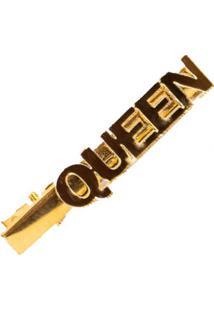 Presilha Prendedor De Cabelo Manoo Manoo Queen Dourada