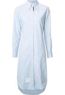 Thom Browne Vestido Com Detalhe Listrado - Azul