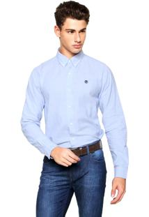 Camisa Timberland Slim Rattle River Oxfo Azul