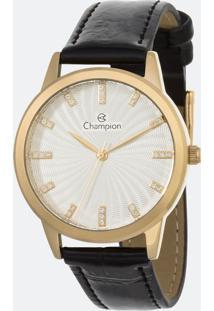 Kit Relógio Feminino Champion Cn28286W Analógico + Conjunto Semijóia